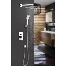 Unterputz Duschset Duschsystem inkl. Duschkopf 40x40 cm Regendusche Armatur