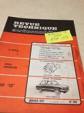 Revue Technique Automobile DAF 55 Évolution alfa Roméo 1750 2000 salon Turin