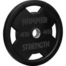 """Hammer Strength Barbell Rubber Olympic Weight Plate 2"""" inch 45lbs"""