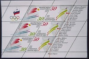 Slovenia.1992 Winter Olympics Sheet .MNH