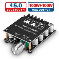 Mini Bluetooth 5.0 Digital Amplifier Module Stereo Desktop Audio Amp Board 100W