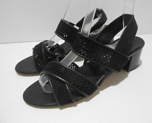 Russell & Bromley Aquatalia low heel suede strappy sandals shoes 37.5 4.5 VGC