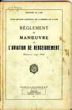 AVIATION - REGLEMENT DE MANOEUVRE DE L'AVIATION DE RENSEIGNEMENT