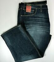 Foundry Mens Relaxed Straight Medium Wash Flex Denim Jeans, Blue  48x30  New!