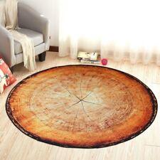 Floor Area Rug Chair Mat Wood Grain Annual Rings Bedside Rug Decor Round Carpet