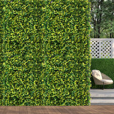 10x Marlow Artificial Boxwood Hedge Fence Fake Vertical Garden Green Outdoor