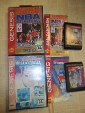 Tecmo Super NBA Basketball & Aikman Football  (Sega Genesis, 1993) 2 Complete