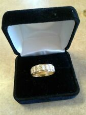 and white gold wedding band Mens unique solid 14K yellow