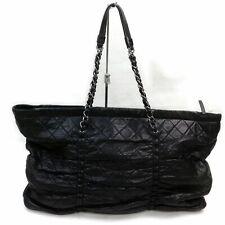 Chanel Bolso Negro Cuero 1402981