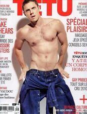 Tetu Magazine #156 6/2010 gay men Scissor Sisters JAKE SHEARS