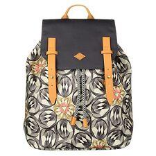 NEU Oilily Rucksack Flower Swirl Backpack Charcoal Damen Rucksack Grau Schwarz
