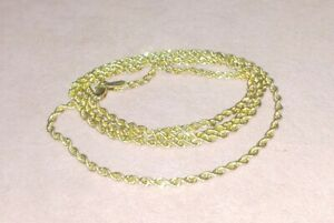 """14K Solid Yellow gold Rope chain - 20"""" Necklace 14 karat 1.7g"""
