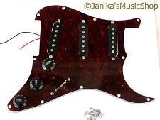 Guitarra cargado Pickguard Sss Tortoiseshell + pastillas de Pick guard Stratocaster Tipo