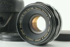 【Exc+++】Canon 35mm f2 Wide Angle MF Lens L39 LTM Leica Screw w/ Case from JAPAN