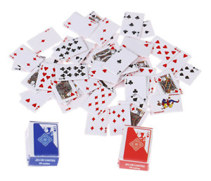 Dolls House Playing Cards 1 Full Miniature Deck Doll Toys Games FREE UK POSTAGE