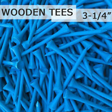 "100 pcs 3-1/4"" 82MM LONG LENGTH LAGUNA BLUE NEW GOLF NATURAL WOOD TEES TEE PGA"