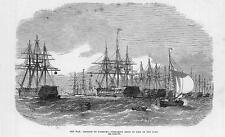 1870 FRANCO GERMAN WAR:  DEFENCE OF HAMBURG Ships River Elbe Norderelbe (101b)