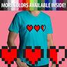 8-bit Pixel Heart Video Game Life Health Container Zelda Mens Unisex Tee T-Shirt