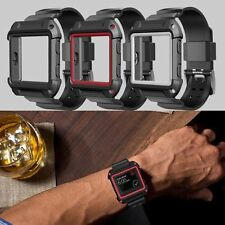 Rugged Protective Case With Silicone Wrist Strap Bands for Fit bit Blaze Watch