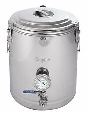 MASH TUN FULLY INSULATED STAINLESS STEEL DUAL WALL CHAPMAN THERMOBARREL 10 GAL