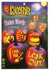 Pumpkin Masters ~  Choice Words ~ Pumpkin Carving ~ 8 Patterns