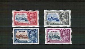 Dominica 1935 Silver Jubilee mounted mint set