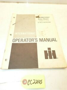 International Cub Cadet 38A 44A 50A 3-Spindle Rotary Mowers Operators Manual