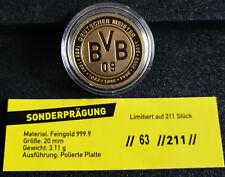 Goldmünze BVB Dortmund Deutscher Meister 2011 Fussball Sammelstück limitiert