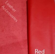 NEW high quality red leather offcut  8''x 12'' 20cm x 30cm crafts * patch repair