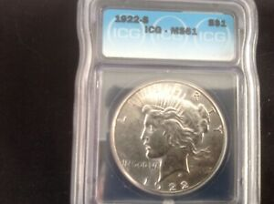 1922 S Peace Dollar ICG MS 61 Flashly For The Grade !!