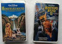 Homeward Bound + Homeward Bound II Walt Disney Family Movie Lot VHS Tapes Dogs