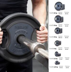 """1-20kg Premium Urethane Coated Cast Iron 2"""" Olympic Lifting Weight Plates"""