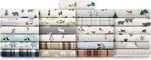 Eddie Bauer - Flannel Collection - 100% Premium Cotton Bedding Sheet Set, Pre-Sh