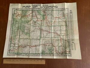 Vintage 1917 Clason's Guide Map of Wyoming