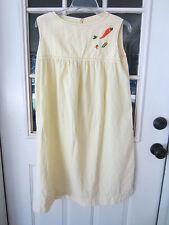 1970s ladies duster robe lounge yellow stripe seersucker size Medium handmade