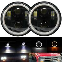 "Pair 5.75"" 5-3/4"" LED Headlights DRL Halo Angel Eyes Lamp for Chevrolet Impala"