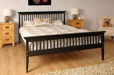 Double Bed Wood Frame 4ft6 Shaker Chocolate Mattress