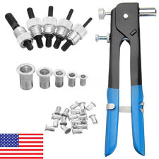 86pcs M3-M8 Blind Rivet Nuts Threaded Insert & Rivet Gun Tool Hand Riveting Kit