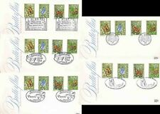 1980 BUTTERFLIES FDCs...7 DIFF.SPECIAL PMKS...PEACOCK CASTLE MUSEUM STEYNING etc