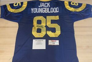 "Jack Youngblood Signed Rams Pro Style Jersey w/ ""HOF '01"" Inscription COA"