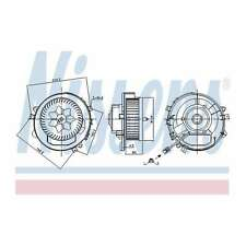 Genuine Nissens Interior Heater Blower Motor Fan - 87424