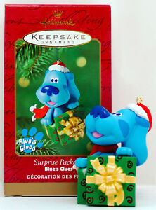 Blue's Clues Surprise Package NEW Hallmark 2000 Ornament Nickelodeon TV Blue DOG