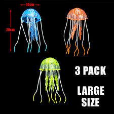 Aqua One Glow Aquarium Floating Jellyfish Fish Tank Kid Pack of 6 Colours Large