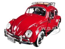 1966 VOLKSWAGEN CLASSIC BEETLE RED 1:24 DIECAST MODEL CAR BY MOTORMAX 79558