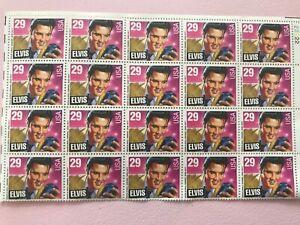 Elvis 29 Stamps, set of 20, Original Gum with no damage USA