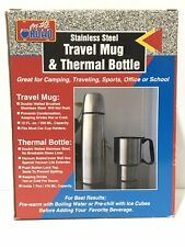 New Stainless Steel Travel Mug And Thermal Bottle Boxed Gift Set On The Road D2
