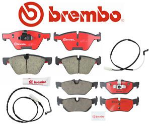 Front Brake Pads & Rear Brake Pads Set Ceramic Brembo + Sensors BMW 325xi 328xi
