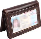 Mens Slim Front Pocket Wallet Genuine Leather Bifold ID Credit Card Holder NEW
