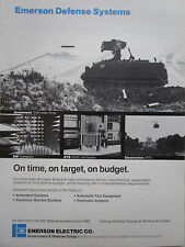 5/1983 PUB EMERSON DEFENSE SYSTEMS ARMAMENT ELECTRONICS EW TOW ORIGINAL AD