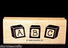 Stampin Up Baby Boutique Single Stamp Alphabet Blocks A B C Children Kids
